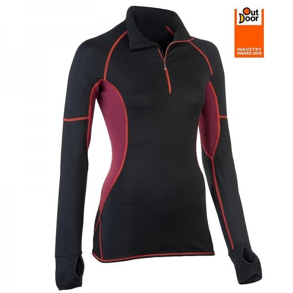 LAUFSHIRT mit KRAGEN slim fit - Bio Sportkleidung für Damen