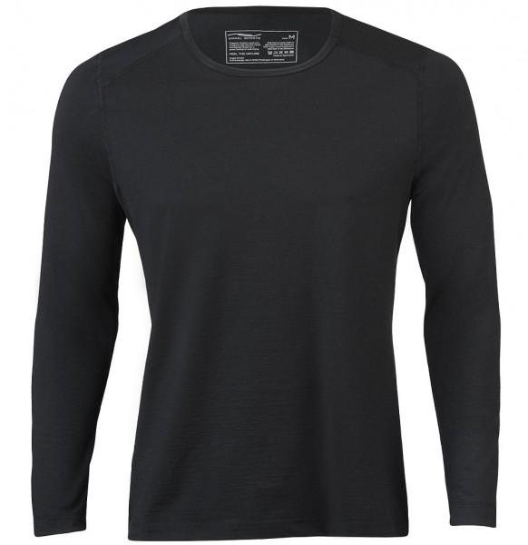 Bio Herren Shirt - Langarm Laufshirt Wolle-Seide