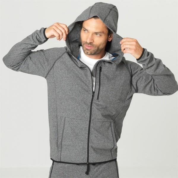 Bio Jogging-Jacke für Herren, natürlich flauschig angerauht - Bio Sportbekleidung
