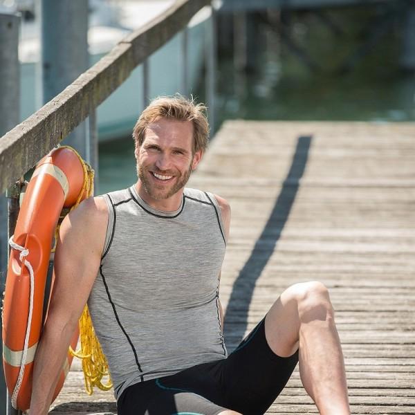 TANK TOP slim fit - natürliche Sportkleidung für Herren