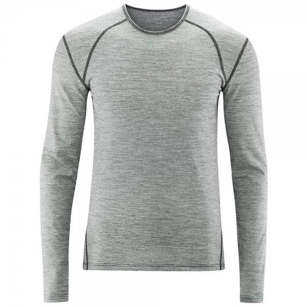 Bio Langarm Shirt für Herren aus GOTS zertifizierter Merinowolle
