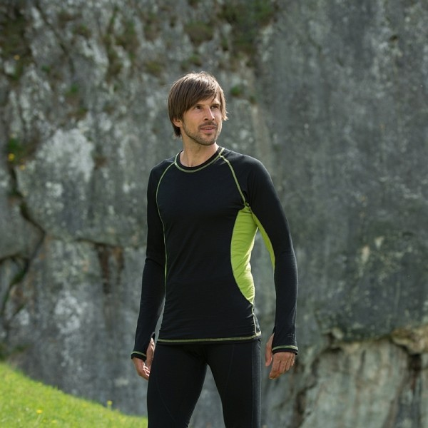 Bio LANGARM SHIRT slim fit - natürliche Funktionswäsche für Herren